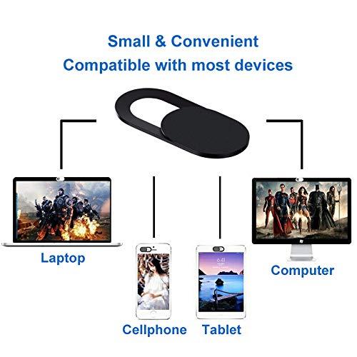 Cemobile 6 Stück Webcam Cover Slide, Ultra Thin Web Camera Cover Blocker mit starkem Klebstoff für Laptop, PC, MacBook Pro, iMac, Computer, Smartphone, Tablet, Schützt Privatsphäre und Sicherheit