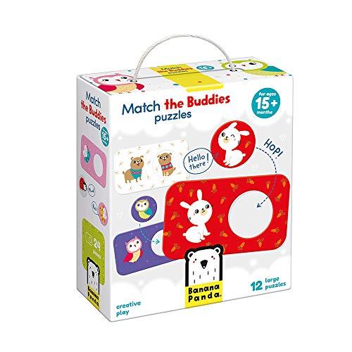 Banana Panda - Match The Buddies Puzzles - Steckpuzzles für Anfänger & Zuordnungsaktivität für Kinder ab 15 Monaten