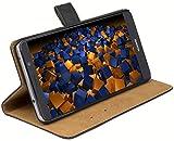 mumbi Echt Leder Bookstyle Hülle kompatibel mit Huawei Mate 9 Hülle Leder Tasche Hülle Wallet, schwarz