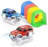 ONTOPON Magic DIY Track Accessory with 2 Toy Car- Tunnel add LED Car (2 car)