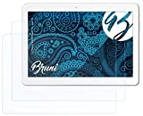 Bruni Schutzfolie kompatibel mit Trekstor SurfTab Breeze 10.1 Quad 3G Folie, glasklare Bildschirmschutzfolie (2X)