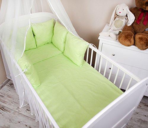 Baby paracolpi paracolpi lettino 210cm Design: a pois verde–Paracolpi protezione bordi protezione della testa per letto Baby letto caratteristiche