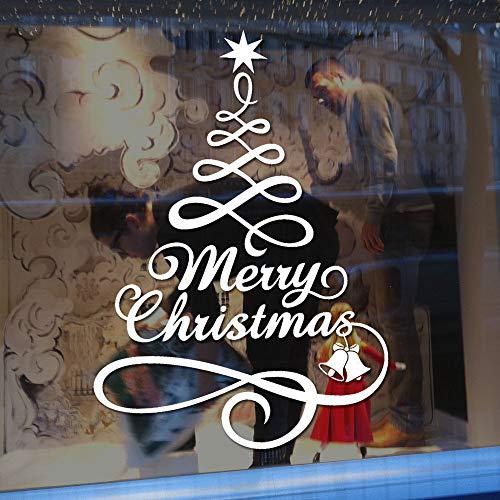 Hahuha Wandaufkleber, Weihnachtsbaum Fenster Vinyl Wandaufkleber Home Decorations Geschenke Home Decor