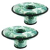 CM Neoprene Floating Drink Holder Floating Coaster Pool Drink Holder for Pool Party Water Fun (Medium Size (2 Pcs))