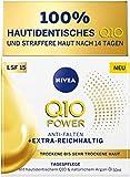 Crema de día Nivea Q10 Power para piel seca y muy seca, crema de día para arrugas atenuadas, crema hidratante intensiva con FPS 15, 1 unidad (50 ml)