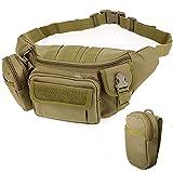 2win2buy Riñonera táctica militar al aire libre, portátil, impermeable, riñonera para viajes, senderismo, escalada, caza, pesca, compras