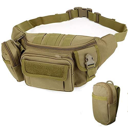 2Win2buy Sac banane tactique, extérieur militaire, étanche, ceinture pour la taille, sac pochette pour voyage, randonnée, escalade, chasse, pêche, shopping