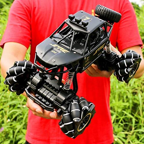 Kikioo Coche de control remoto todoterreno de alta velocidad de 2.4G, vehículo RC de escalada 4WD de grado aficionado, camión de aleación Bigfoot Monster RC, absorción de impactos independiente, regal