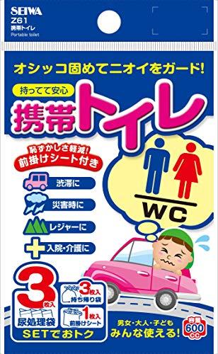 セイワ(SEIWA) 車用 車載用トイレ 携帯トイレ 3枚セット Z61