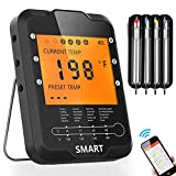 Meat Thermometer Wireless Remote MinSoHi BBQ Thermometer Smart Cooking Thermometer with 4 Probes