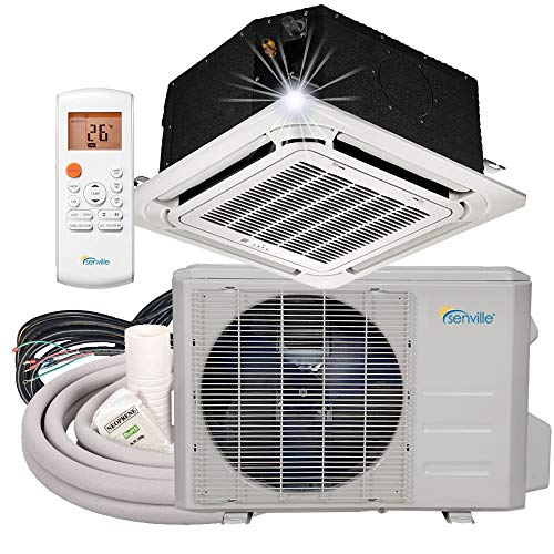 Senville SENA-18IC-Z 18000 BTU Ductless Ceiling Air Conditioner and Heat Pump