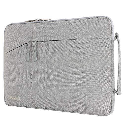 MOSISO Laptop Manica Valigetta Compatibile con 13-13,3 Pollici MacBook Air, MacBook PRO, Computer Notebook Poliestere Borsa Protettiva Borsa con Tasche Accessorie, Grigio