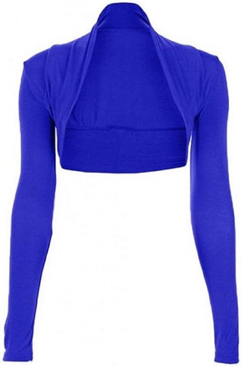 Miss High Street Women Long Sleeve Bluero Shrug (S/M-(US6/8) (UK8-10), Electric Blue)