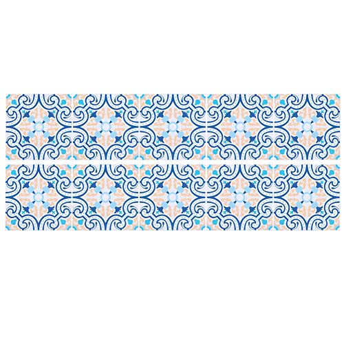 Oumefar Calcomanías extraíbles para pared, etiqueta de suelo, impermeable, baño para decoración del hogar, cocina