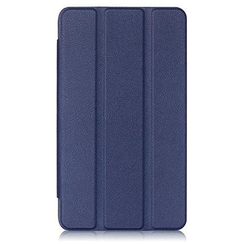 Kepuch Custer Huawei Mediapad T1 7.0 / T2 7.0 Hülle - Shell Schutzhülle PU Tasche Smart Case Cover für Huawei Mediapad T1 7.0 / T2 7.0 - Blau - 3