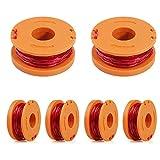 smileh Bobine per Trimmer Bobine Filo di Ricambio per Decespugliatore 6Pezzi Compatibile per Worx
