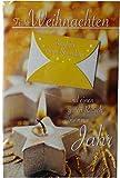 Glückwunschkarte Weihnachten Motto: Frohe Weihnachten Motiv: Kerzen Mit Motiv und Briefumschlag / Jede Karte ist in einer Schutzfolie verpackt Größe: ca. 10 * 17 cm - Geldkarte