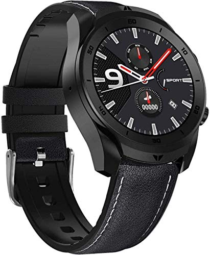 MHPO Reloj digital inteligente con monitor de ritmo cardíaco impermeable fitness tracker podómetro actividad rastreador sueño seguimiento mensaje teléfono podómetro negro