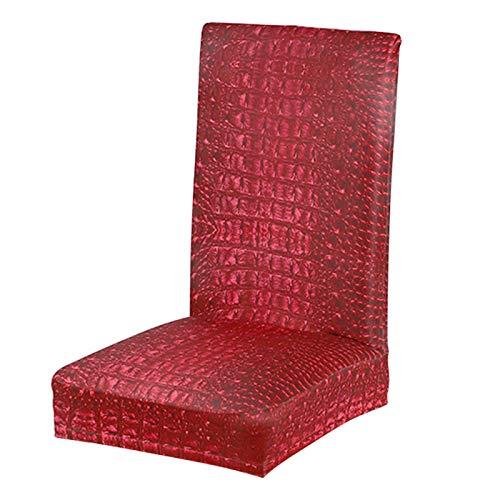 POHOVE Stuhlbezug, 4 Stück, Stretch-Stuhlhussen für Esszimmerstühle mit hoher Rückenlehne, elastische Stuhlschoner