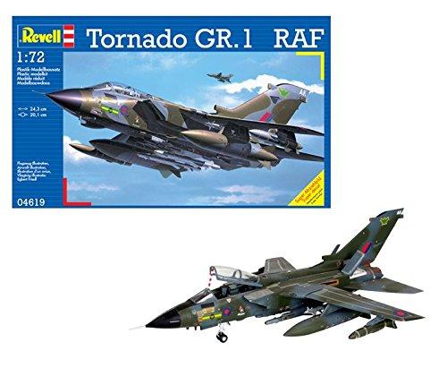 Revell Modellbausatz Flugzeug 1:72 - Tornado GR.1 RAF im Maßstab 1:72, Level 4, originalgetreue Nachbildung mit vielen Details, 04619