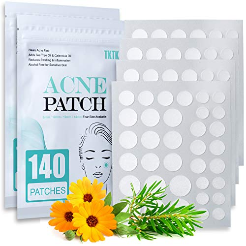 Acne Patch Pimple Patch, 4 Sizes 280 Patches Acne Absorbing Cover Patch, Hydrocolloid Invisible Acne Patches For Face Zit Patch Acne Dots Tea Tree, Calendula Oil - 2 Pack