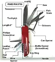 Rimei Multifunction Stainless Steel Corrosion Resistant Knife Set, Swiss Knife Set,14 In 1