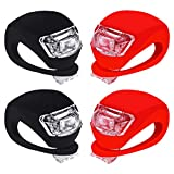 Bike Lights Front and Back - Waterproof Bright Bicycle Lights Front Rear with Silicone Housing - Cycling...