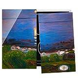 Bilderwelten Cubre encimeras - Edvard Munch - Summer Night On The Sea Beach, 60x52 cm