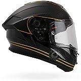 Bell 7069590 Casco para Moto Racestar Speed Check, Negro Mate/Dorado, XS