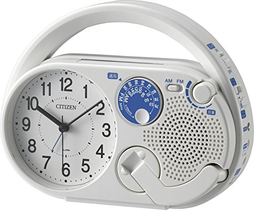シチズン 目覚まし時計 アナログ 防災 ディフェリアR04 AM/FM ラジオ 発電 LED ライト 携帯電話 充電機能 白 CITIZEN 4RQA04-003