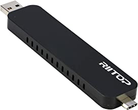 RIITOP NVMe M.2 Enclosure NVMe SSD to USB 3.1 Type-C & Type-A Adapter for M.2 PCI-e (M Key) SSD (No Cable Need)