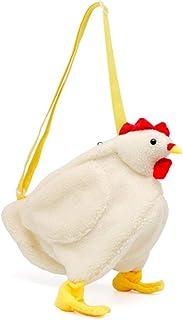 Plüsch Umhängetasche, Damen Mädchen Süße Huhn Mini Rucksack Schultasche Handtasche, Kinder Animal StyleKunstpelz Plüsch Pu...