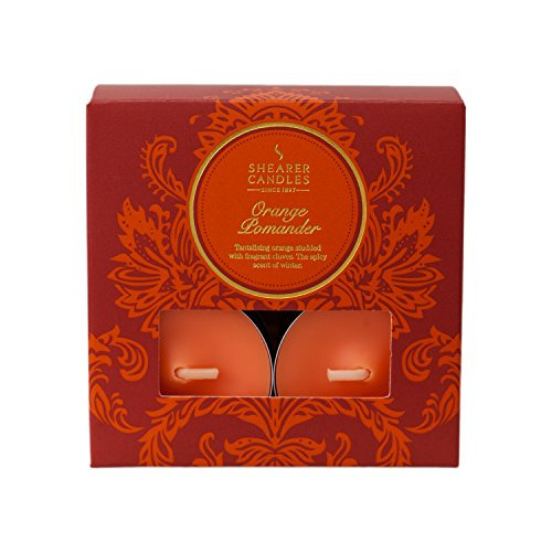 Shearer Candles Orange Pomander (Pack of 8) Scented Tealights - Orange
