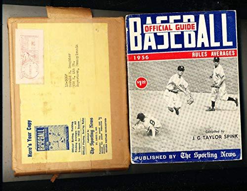 1956 Baseball Guide TSN Yankees & envelope bxbg