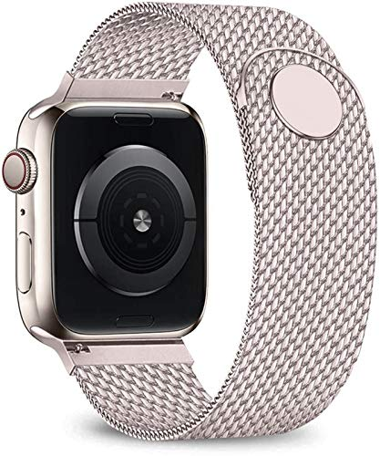 KAAGGF Bucle de la Correa for Apple Banda de Reloj de 40 mm 44 mm 38 mm 42 mm Brazalete de Acero de Correa del Metal Inoxidable for Serie iWatch 5 4 3 38 42 44 mm