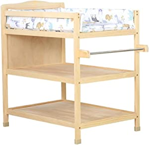 Changing Tables Large Children  Baby Nursery Dressers Organizers  Wooden Diaper Station with Pad  Layer Storage Space  Color Style3