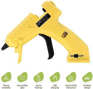 Mini Pistola de Silicona Caliente Inalámbrica, HOTSO USB Mini Pistola de Pegamento Recargable Portátil para DIY,Manualidades,Adornar,Reparaciones Rápidas