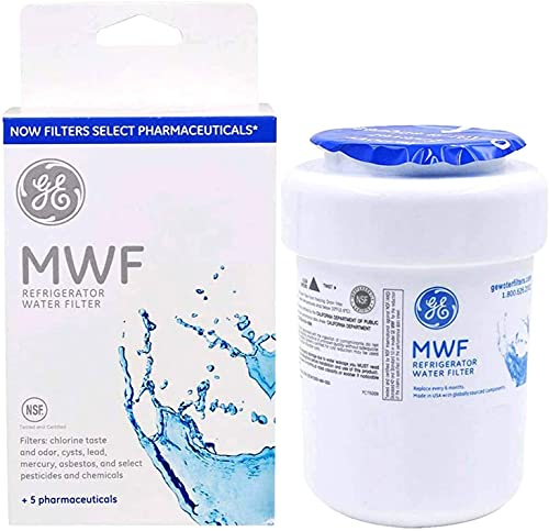 HOMPOWER MWF Refrigerator Water Filter Replacement for GE Refrigerator Compatible with MWF, MWFA, MWFP, GWF, GWFA, GWF06, Kenmore 9991, 469991(1 Pack), White