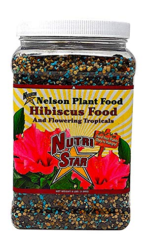 Nelson Hibiscus and Flowering Tropical Plant Food In Ground Container Indoor Outdoor Granular NutriStar 10-4-12 (4 LB)