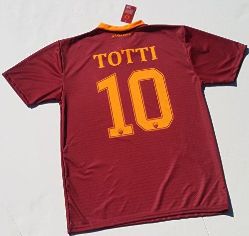 Maglietta da calcio della Roma, di Francesco Totti, riproduzione autorizzata, da uomo