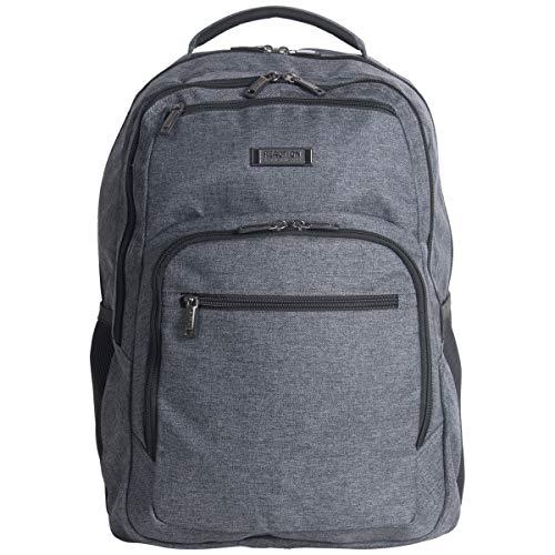 Kenneth Cole Reaction Travelier Multi Pocket Laptop Tablet Business School Travel Backpack Bag Charcoal One Size