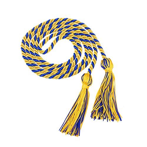 Supvox Student Abschluss Quaste Abschluss Kleid Doktor Hut Quaste für Bachelor Master High Shcool Studenten (gelb blau)