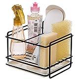 Kaxich Porte éponges cuisine rangement d'évier support d'éponge en le fer panier porte-ustensiles chiffon de nettoyage et pinceaux support pour liquide vaisselle range-savon
