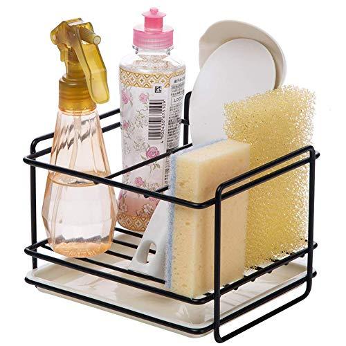 Kaxich Küchen Schwammhalter Spüle Organizer Seife Bürste Schwamm Ablauf Rack Geschirrspülmittel Duschgel Lagerung für Küche und Badezimmer