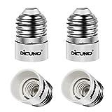 DiCUNO 4-Pack E27 to E14 Socket Adapter Socket Convertidor Adaptador de base de lámpara de alta calidad para bombillas LED y bombillas incandescentes y bombillas CFL