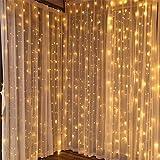 3X1m妖精の窓のカーテンライト、ガゼボ、結婚式、ベッドルーム、ガーデン、パーティー、クリスマスの装飾のために屋内屋外防水文字列ライト