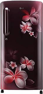 LG 190 L 4 Star Inverter Direct-Cool Single Door Refrigerator (GL-B201ASPY, Scarlet Plumeria, Moist 'N' Fresh)
