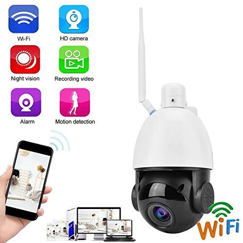 Garsent Cámara de Seguridad Ptz 30x Zoom al Aire Libre Cámara Domo WiFi Impermeable Visión Nocturna - Alarma Inteligente de detección de Movimiento - Control AAP Admite (EU)