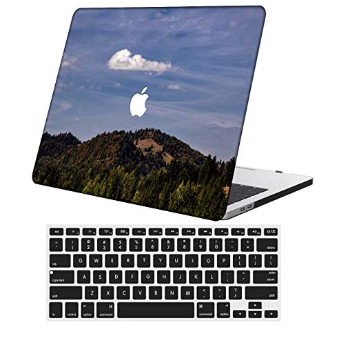 NKDCase Case for Newest MacBook Pro 13 inch Model A2159/A1989/A1706/A1708 Cut Out Design,Plastic Ultra Slim Light Hard Case Keyboard Cover Compatible MacBook Pro 13 inch,Sky Series 0425