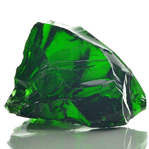 Lechnical Gabionensteine aus Glas Grün 60-120 mm 25 kg Glasbrocken Glasbruch Glassteine Glas Gabione Kies Splitt Zierkies Edelsplitt